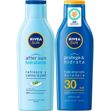 Set Nivea Sun Protege & Hidrata SPF30 200ml + Aftersun 400ml