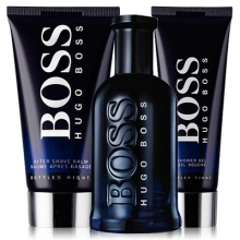 Set Boss Bottled Night 100ml + Gel 50ml + After Shave 75ml