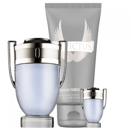 Set Invictus 100ml + Shower Gel 100ml + Mini 5ml