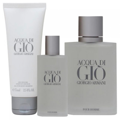 Set Acqua di Gio 100ml + Gel 75ml + 15ml