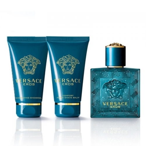 Set Versace Eros 50ml + Shower Gel 50ml + After Shave Balm 50ml