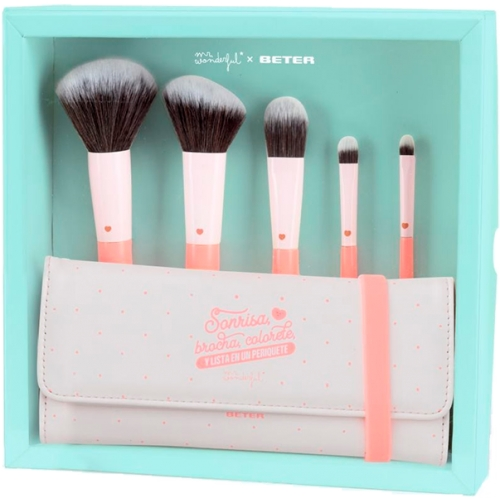 Mr. Wonderful Set Brochas Maquillaje