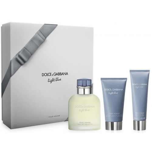 Set Light Blue Pour Homme 125ml + After Shave 75ml + Shower Gel 50ml