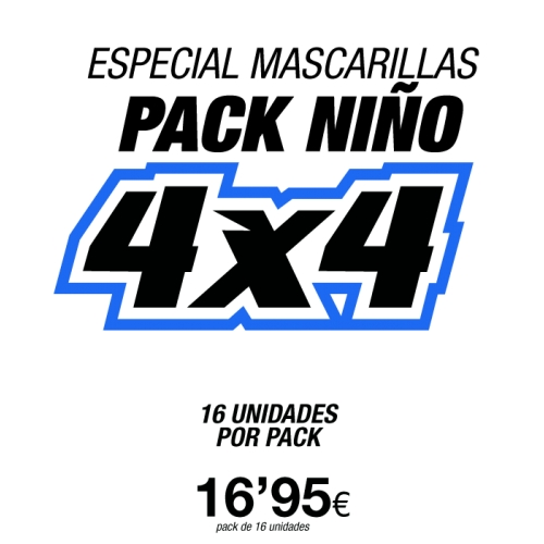 Pack 16 Mascarillas de Niño
